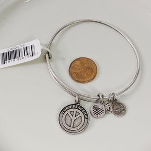 Alex and Ani Silver Turn Peace Up Bracelet New NWT